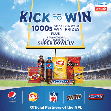 Kick for a chance to Win
