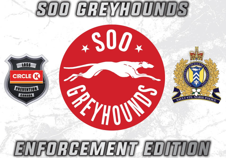 Soo Greyhounds-Sault Ste Marie Police Hockey Cards