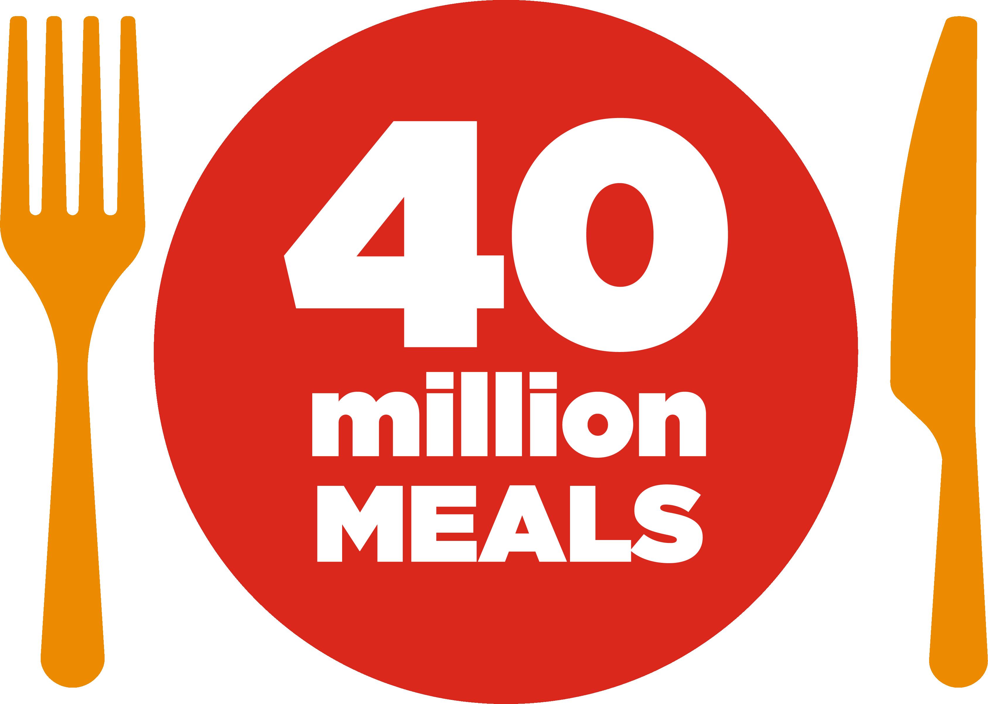 Together let's give - 40 million MEALS
